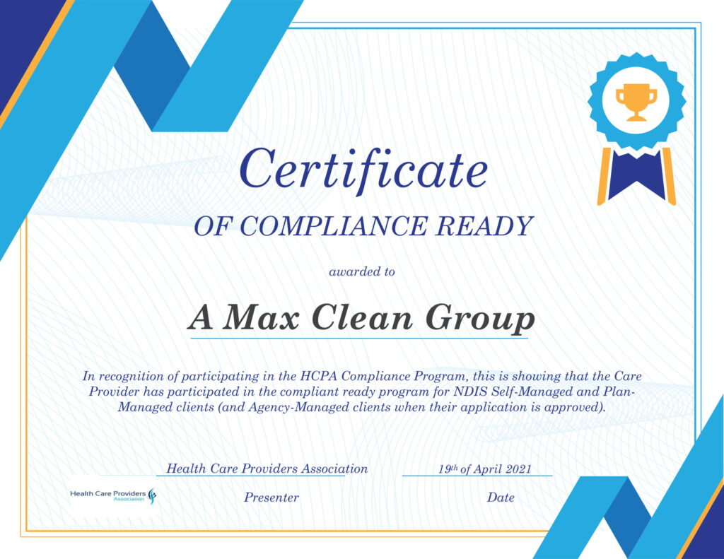 a max clean group certificate