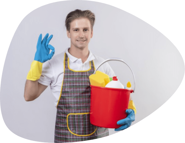 man cleaning house in adelide